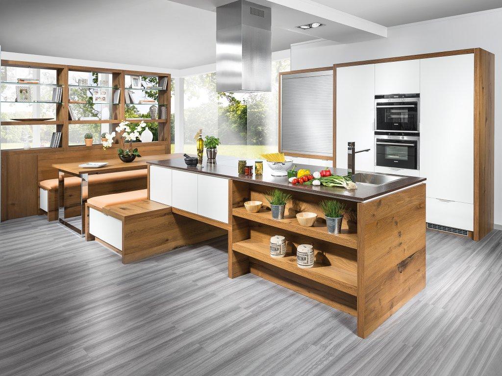 Kuche Mit Integriertem Essplatz ~ Bild Von Traumhaus Design