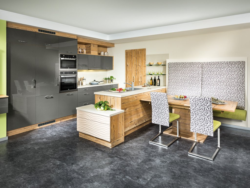 Kuche Mit Integriertem Essplatz Innen Und Möbelideen