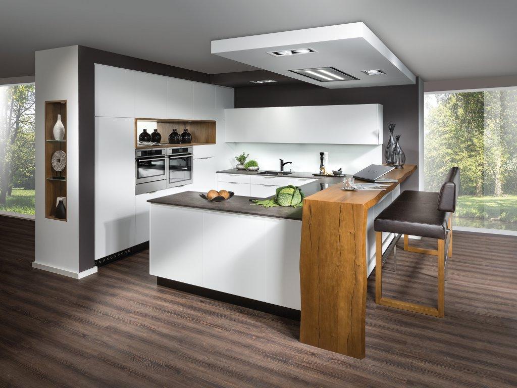 kchenzeilen mit wunderbar thekentisch kche kuche mit. Black Bedroom Furniture Sets. Home Design Ideas