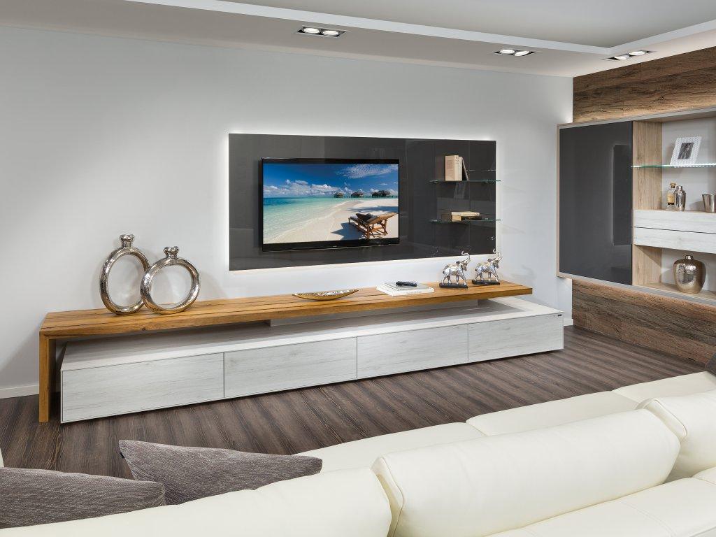 Tv wohnwand wohnwand tv wand selbst gebaut teil laminattv for Tv wohnwand modern