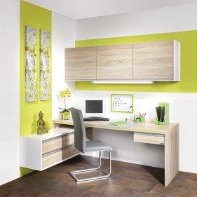 Maßgenauer Schreibtisch mit Regal