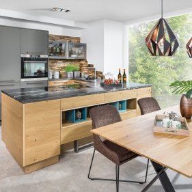 Küche mit Raumteiler
