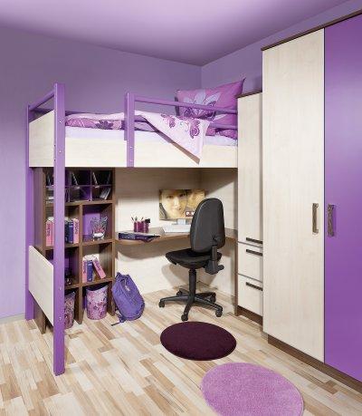 Hochbett mit Schreibtischlösung