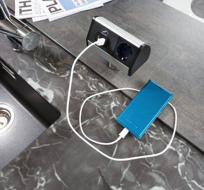 Steckdosenleiste mit USB-Anschluss