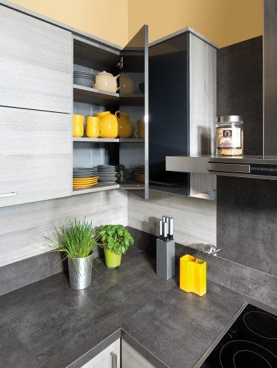 Küchenhängeschrank Ecklösung