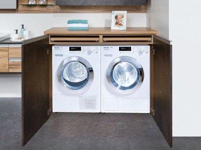 Waschmaschinenverbau. Planungsbeispiel MAX Bad 0129