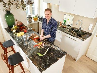 Küchenoberplatte aus Stein