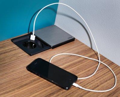 Steckdose mit USB-Anschluss