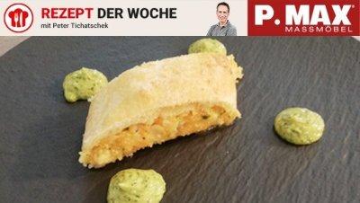 Veganer Kürbis-Polenta-Strudel