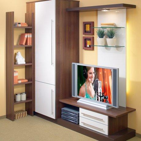 Maßgenaue TV-Wohnwand