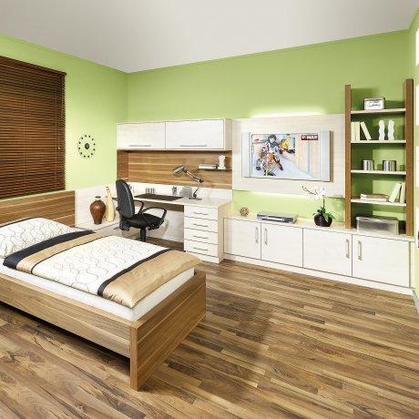 Jugend- Singlezimmer mit Schreibtischlösung