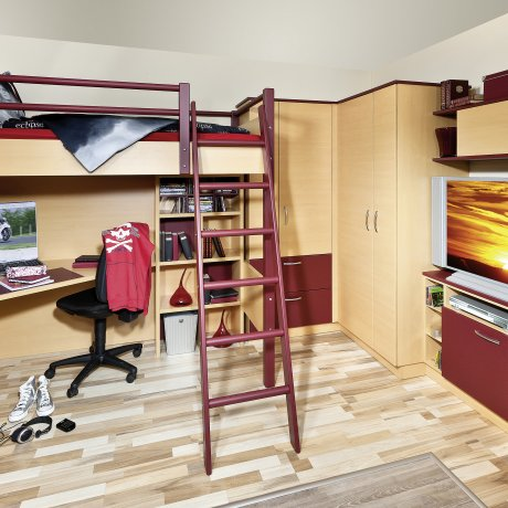 Schlafzimmer Komplettverbau mit Hochbett