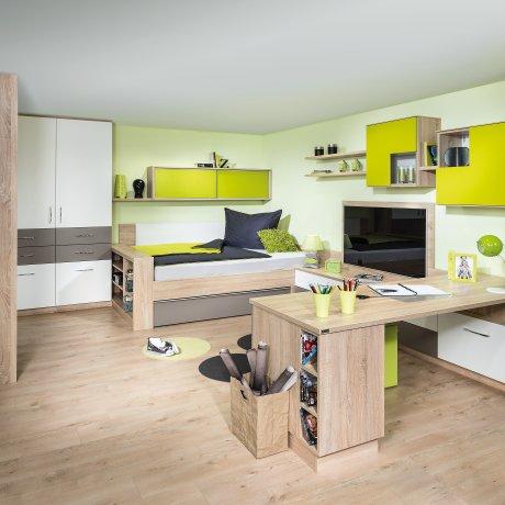 Jugendzimmer mit Umbauliege