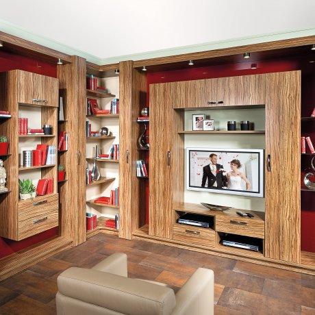 Wohnwand-Ecklösung mit TV-Paneel